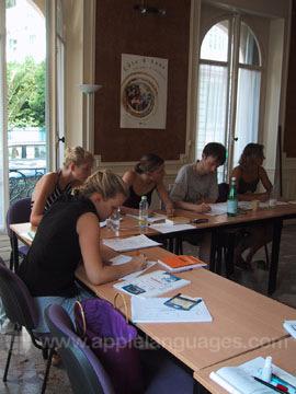 Cours de français dans notre école