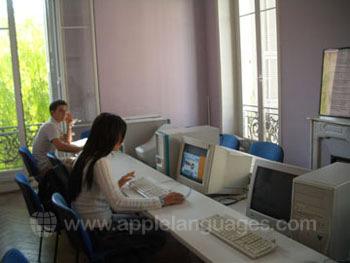 La salle multimédia de l'école