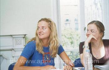 Cours de français à l'école d'été
