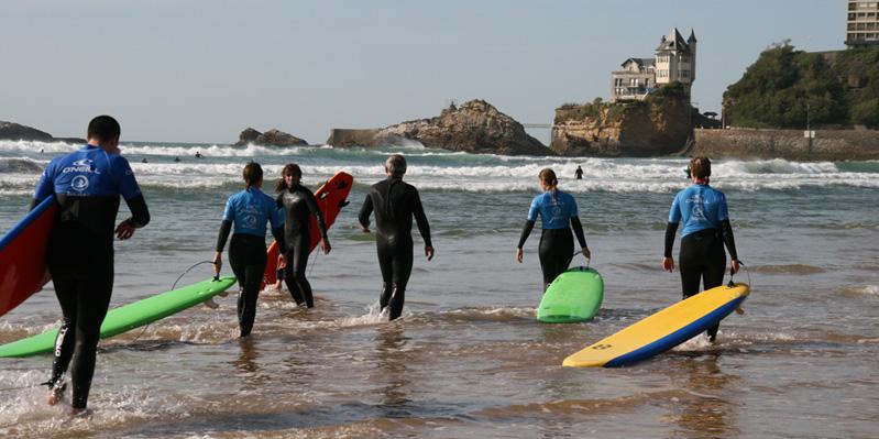 Leçons de surf