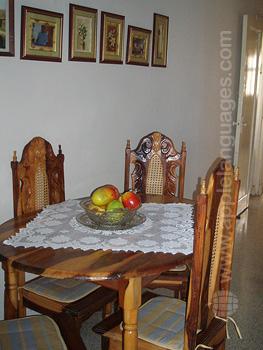 Salle à manger chez une famille d'accueil