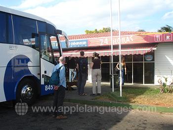 Arrivée en bus