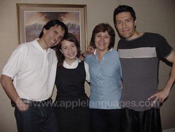 Une sympathique famille d'accueil chilienne