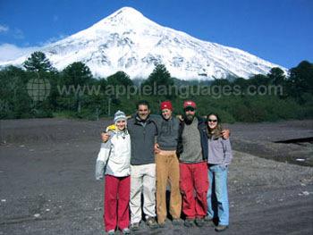 Il y a aussi des volcans enneigés au Chili !