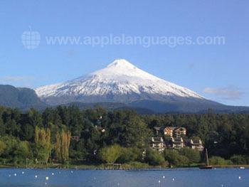 Magnifique volcan enneigé !