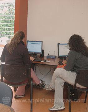 Le cybercafé de l'école