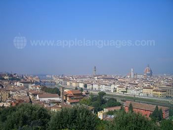 La vue de la Piazzale Michelangelo