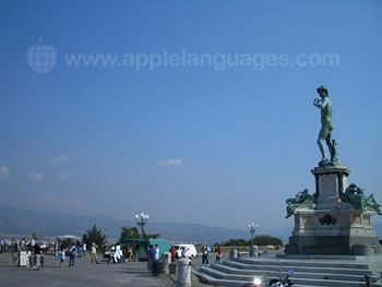 Piazzale Michelangelo, à 5 mins de notre école
