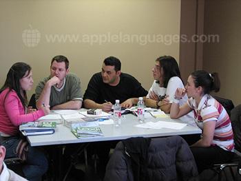 Cours de français en groupe