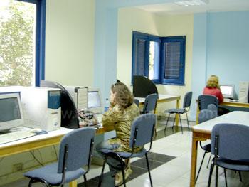 La salle informatique de l'école