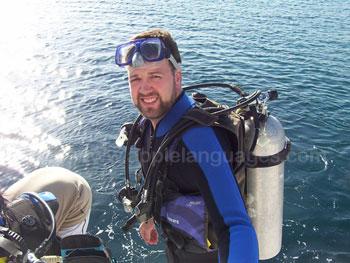 Préparation pour aller faire de la plongée