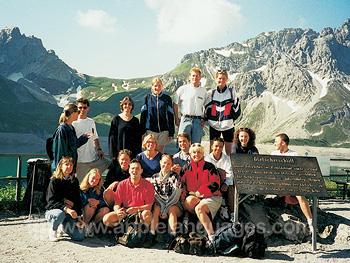 Des étudiants profitant des montagnes de la bodensee