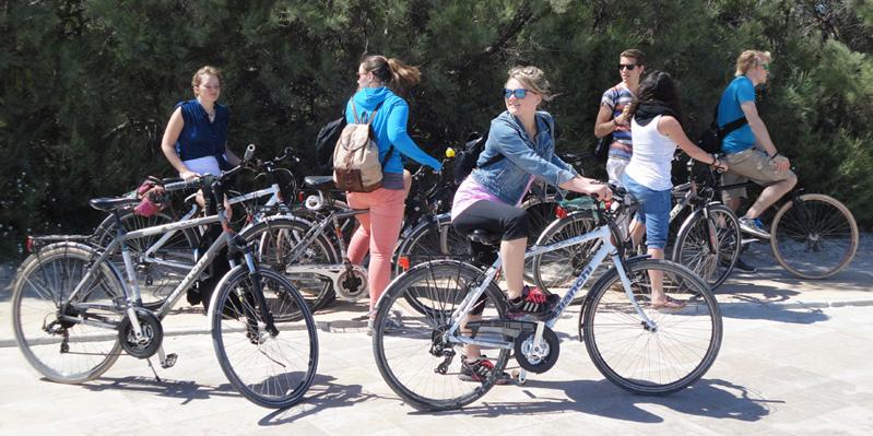 Visite en vélo organisée