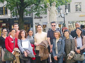 Des étudiants en visite guidée de Münster