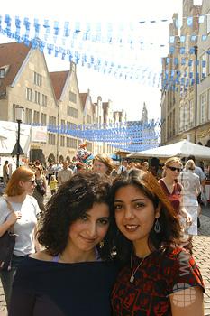 Des étudiants à la découverte de Münster
