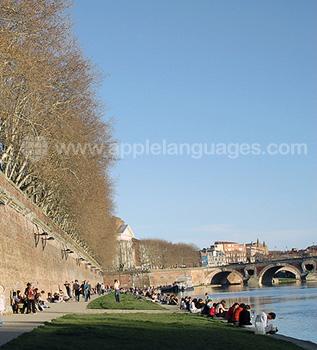 Les quais à Toulouse