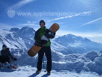 Snowboard après les cours
