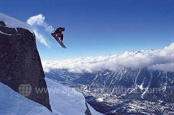 Snowboard à Chamonix