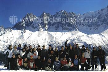 Des étudiants du programme français et ski