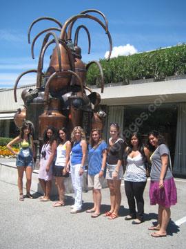 Des étudiants en excursion