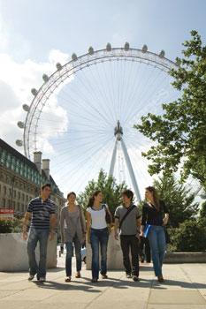 Des étudiants à la découverte de Londres