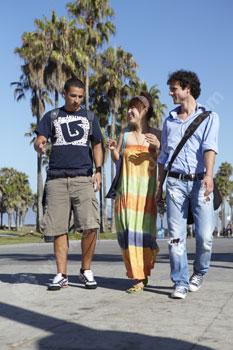 Des étudiants à la découverte de Venice Beach