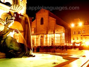 Piazza Maggiore de nuit