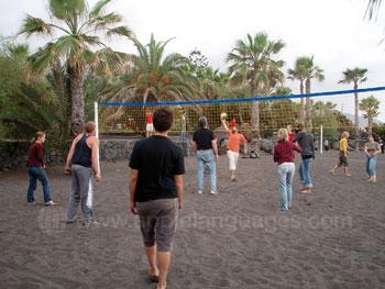 Jouer au volley-ball sur la plage