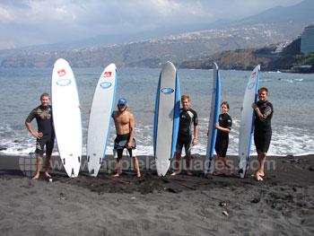 Apprenez l'espagnol et le surf