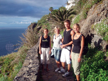 Des étudiants à la découverte de l'île