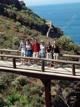 Des étudiants à la découverte de Tenerife