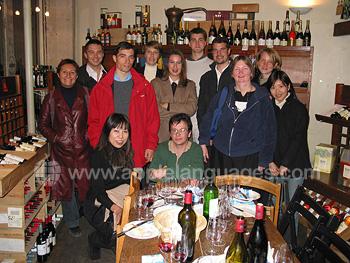 Excursion dans une cave à vins
