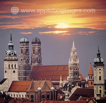 Coucher de soleil sur Munich