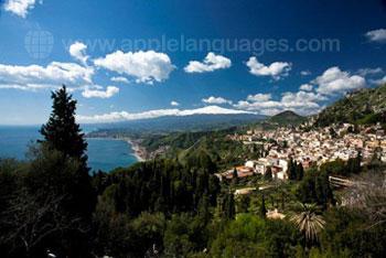 Vue de la belle Taormine