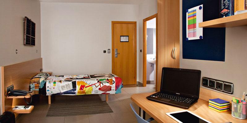 Chambre en résidence étudiante