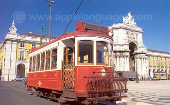 Un tram traditionnel, Lisbonne