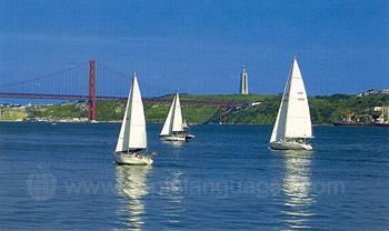 Des yachts quittant Lisbonne