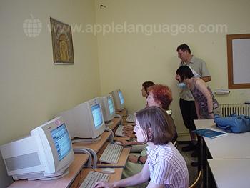 Salle informatique de l'école