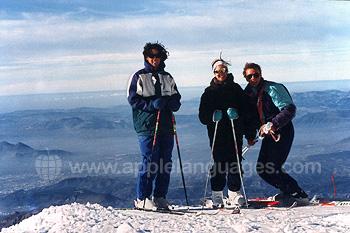 Ski dans la Sierra Nevada