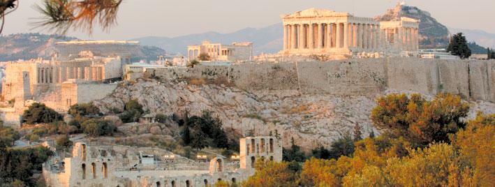 Vue du Parthénon à Athènes
