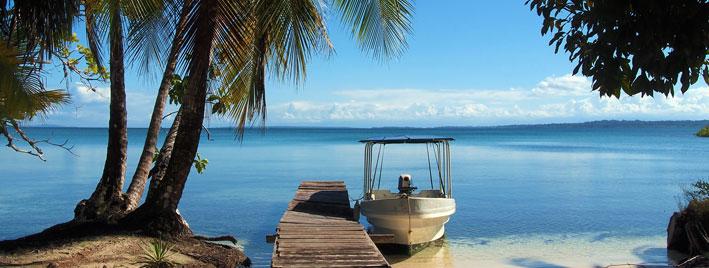Vue sur la mer à Bocas del Toro