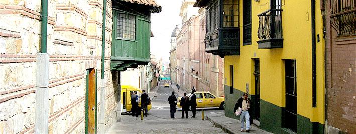 Vieille rue de Bogota