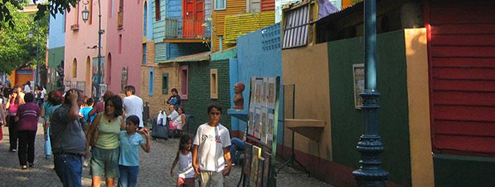 Façades colorées de Buenos Aires