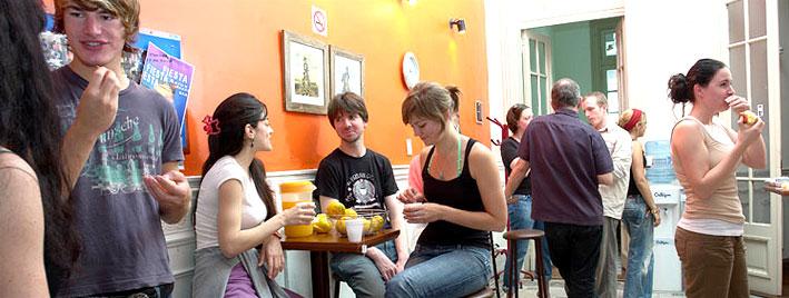 Étudiants en pause à Buenos Aires