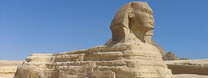 Le sphinx de Gizeh au Caire, en Égypte