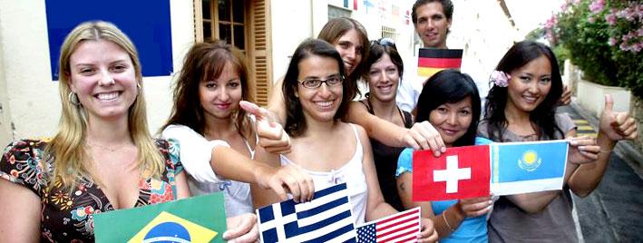 Étudiants en séjour linguistique à Cannes
