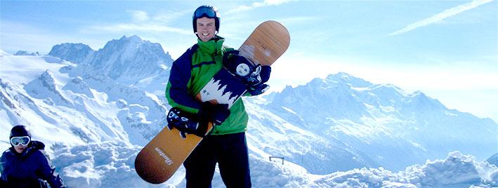 Journée snowboard à Chamonix