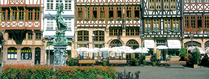 La Römerberg plaza à Francfort
