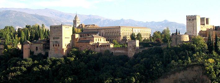 Vue sur l'Alhambra de Grenade