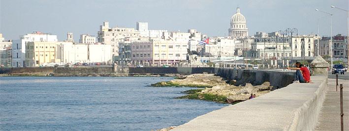 Bord de mer à La Havane